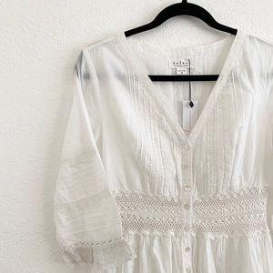 Velvet by Graham & Spencer Pintuck Lace Dress
